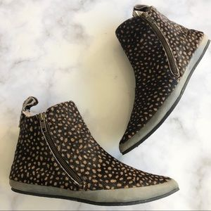 Free People Melrose Ankle Boot Animal Print